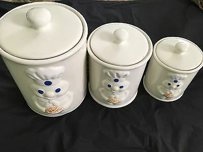 Three-Piece Pillsbury Doughboy Canisters From 1999
