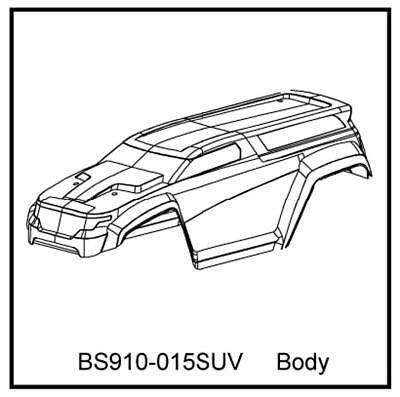 Redcat Racing 1/10 Scale Clear SUV Body for Terremoto T10 V2