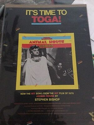 "Billboard Magazine Promo Ad 11""*14"" Animal House It's Time To Toga John Bulushi"