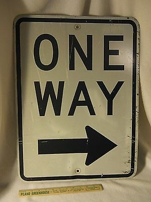 "Old ""ONE WAY"" Street Sign-Heavy Aluminum Street Sign-LARGE"