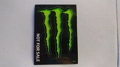 """2 Monster Energy Drink DECAL STICKER """"4 x 3 inches"""" Lot of 2"""