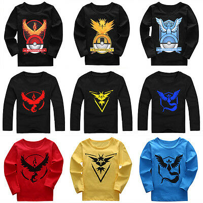Pokemon Go Kids Clothes Cartoon Tops Baby Boys Girls Summer Tee T-Shirts Outfits
