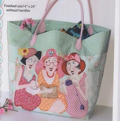 PATTERN - The Sisters Bag - fun applique bag PATTERN - Red Brolly