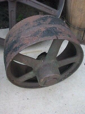 Vintage Flat Belt Pulley Tractor Pulley Hit Miss Stationary Engine Pulley