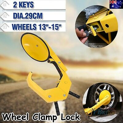Auto Car Vehicle Wheel Lock Clamp Anti-Theft Security Heavy Duty Safety 13-15""