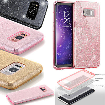 Samsung GALAXY S8 / Plus Hybrid Bling Glitter Rubber Protective Hard Case Cover