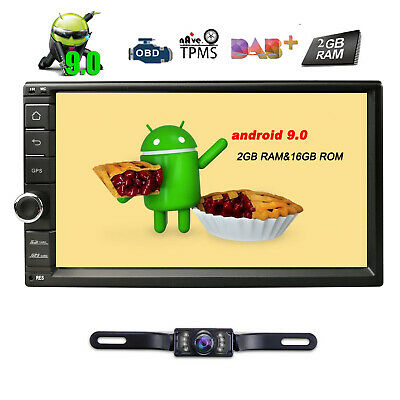 """7"""" Hizpo Touch Screen 1024*600 Android 7.1 Double 2Din DAB+ Stereo GPS Navi+Cam"""