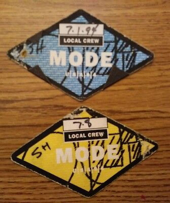 """pair of """"Depeche Mode"""" backstage worker passes U.S.A. 1994 Indianapolis & OH"""