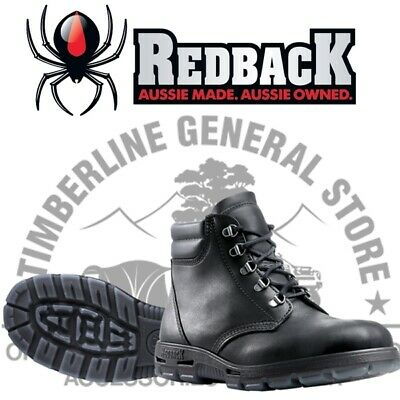 Redback UABK Crazy Horse ( Black ) Lace Up Work Boots Apline All Sizes