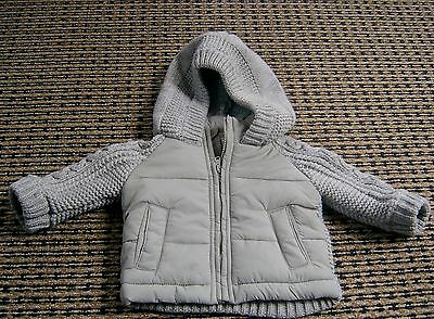 Bebe By Minihaha Baby Boys Knit And Puffer Jacket Sz 3 - 6 Months (00)
