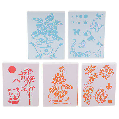 5pcs/lot Kids Stencil Set Plastic Drawing Templates Pictures Many Pattern Style