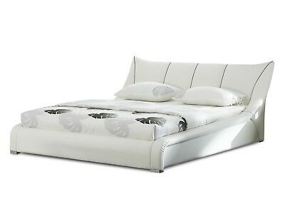 Bed Super king size Bed frame leather white