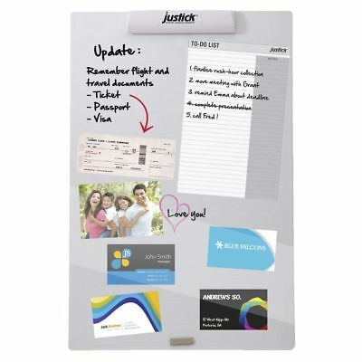 Justick Noticeboard 400 x 600mm White