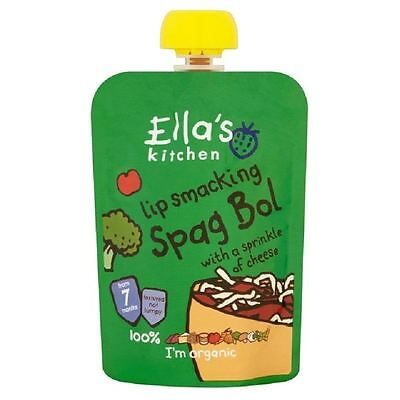 Ella's Kitchen Lip Smacking Spag Bol From 7m 130g Pouch 1 2 3 6 Packs
