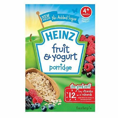 Heinz Fruit & Yogurt Porridge 4m+ 125g Box 1 2 3 6 Packs