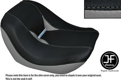 Black & Grey Vinyl Custom For Harley Davidson Night Rod Special Front Seat Cover