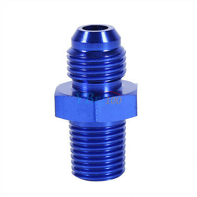 """AN6 To NPT 1/4"""" Car Vehicle Fuel Oil Fittings Straight Adapter Adaptor Universal"""