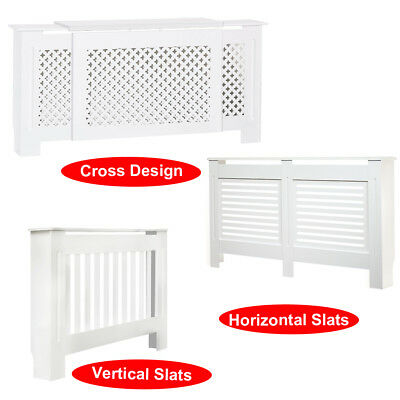 White Painted MDF Radiator Cover Wall Cabinet Home Radiator Cabinet Modern