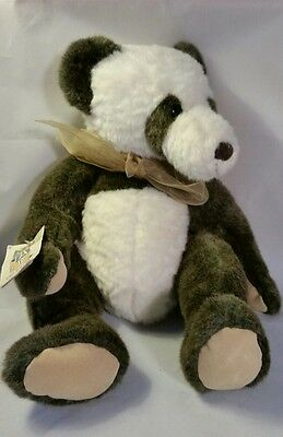 FAO Schwarz Designer Collection Brown Panda plush stuffed animal rare collectibl