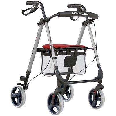 Lightweight 4 Wheel Frame Mobility Pace Walking Aid Disability Rollator Walker