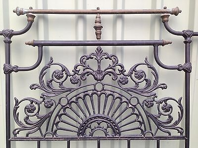 Beautiful, original condition, Iron and Brass Double Bed,Head and foot.