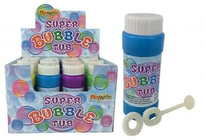 12 Super Bubble Tubs - 50ml - Birthday Party Loot Bag Filler Childrens Kids Toy