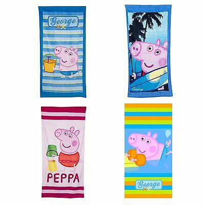 Peppa Pig Beach Childs Towel Holiday Towels Various Designs NEW Official