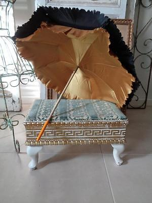 Old FOOTREST Foot stool shabby chic