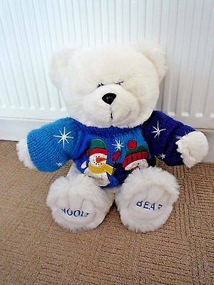 Vintage Chad Valley Wooly Bear With Christmas Jumper