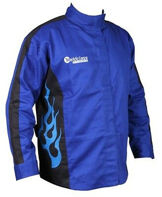 Promax Blue Flame Full-Proban Welding Jacket - XXL (Approx 147cm chest)