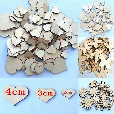 50Pcs Sewing Fitted Buttons Scrapbooking Flower Butterfly Heart Wood