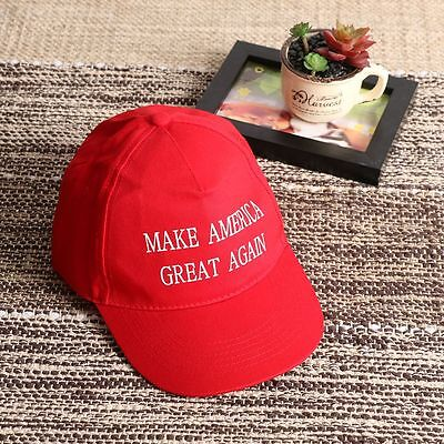 New Cotton 2016 Republican Red Cap Donald Trump Hat Make America Great Again