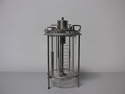 Applikon 15 Liter Glass Reactor with Impeller On Stand