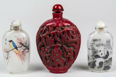 3 Antique Chinese  Snuff Bottles, Good Condition, Very Rare.