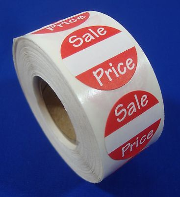 """Self-Adhesive Sales Price Labels 1"""" Stickers / Tags Retail Store Supplies"""