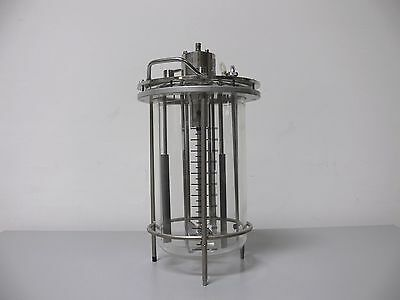 Applikon 15 Liter Glass Reactor with Stainless Steel Impeller On Stand