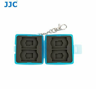 JJC MC-11B BLUE Memory Card Holder case fit for 4x SD, 4x MSD with key ring
