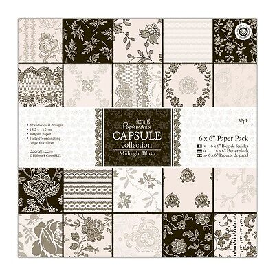 """Papermania  6 x 6"""" Paper Pack - 32 sheets Midnight Blush"""