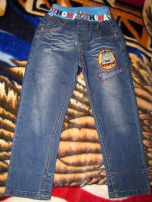 Tomas train boys denim jeans 4-5 years old