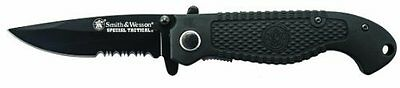 Folding Knife Liner Lock Partially Serrated Drop Point Blade Stainless Steel