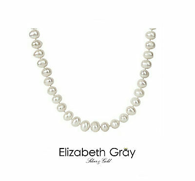 Women's Pearl Neckless - With SOLID 925 Sterling Silver