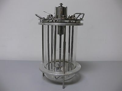 Applikon 15 Liter Glass Reactor W/ Stainless Steel Impeller On Stand