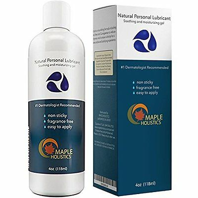 Lubricant with Aloe Vera and Carrageenan Best for Sensitive Skin Water Based 4oz
