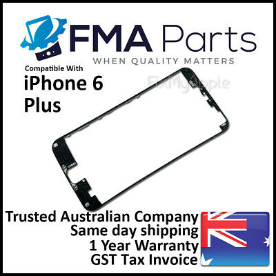 iPhone 6 PLUS Black Front Glass Touch Screen LCD Digitizer Bezel Frame Plastic