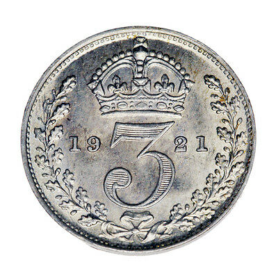 BU 1921 Silver Three Pence Great Britain Actual Photos Shown *FREE USA SHIPPING*