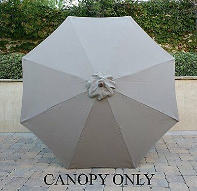 Replacement & Easy to Install Umbrella Canopy for 9ft 8 Ribs - Single Vented