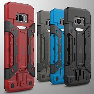 For Samsung Galaxy S8 Plus Card Case Hybrid Armor Stand Phone Cover