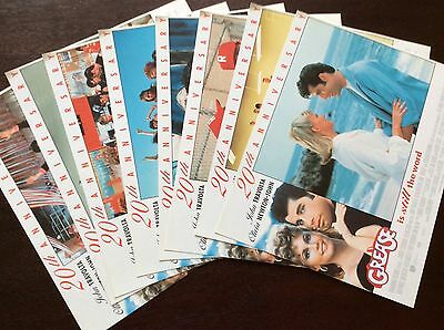 Vintage Grease Lobby Card Set, 20th Anniversary, Rare Promotion Item, Set of 8