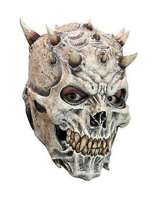 Spiked Skeleton Skull Overhead Latex Mask Halloween Party Costume Scary Horror