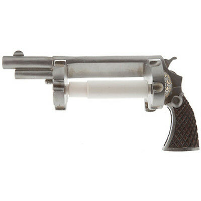 Revolver Pistol Toilet Paper Holder Cowboy Ammo Gun Man Cave Bathroom Decor New!